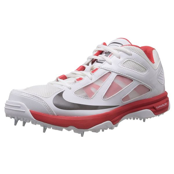 new product e3dba ab4dc Nike Lunar Dominate Cricket Shoes Red